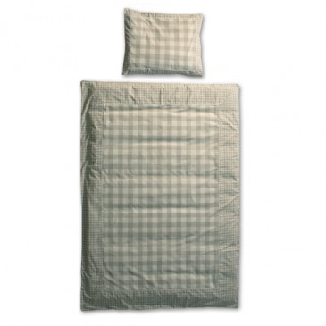 Fabric VICHY GREY DUVET COVER