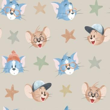 Tom & Jerry Warner Bros Fabric FACIAL.130.140
