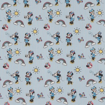 Disney Minnie Mouse Fabric RAINBOW.38.140