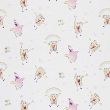 Nickelodeon Spongebob Squarepants Fabric WATERFUN.100.140